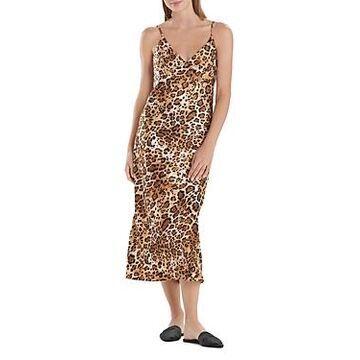 Natori Printed Satin Nightgown