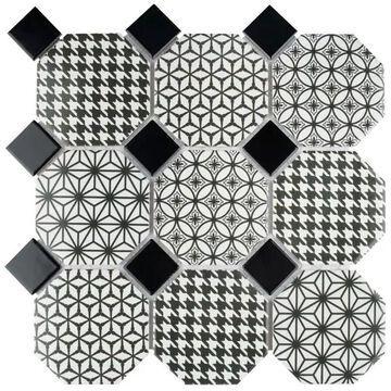 SomerTile 11.75x11.75-inch Lait Porcelain Mosaic Floor and Wall Tile (10 tiles/9.79 sqft.)