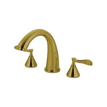 Kingston Brass Century Bathtub Faucet, Polished Brass