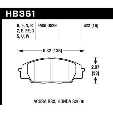 Hawk 06+ Civic Si HP+ Street Front Brake Pads