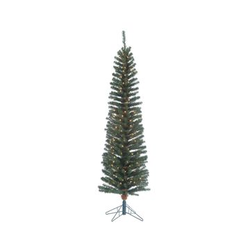 Sterling 6.5Ft. Pre-Lit Narrow Pencil Fir with 200 clear lights