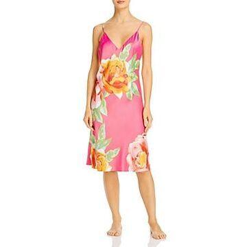 Natori Serafina Floral Print Slip Nightgown