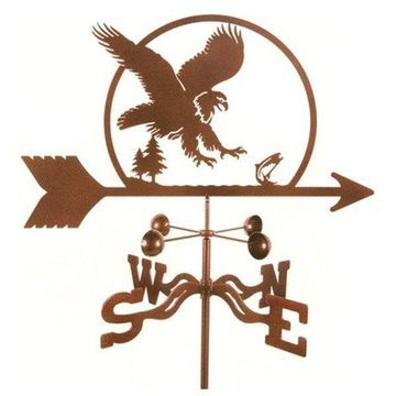 EZ Vane Eagle Bird Weathervane With Deck Mount