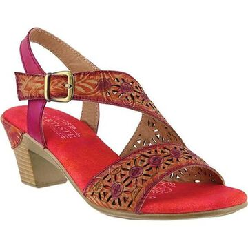 L'Artiste by Spring Step Women's Noreen Slingback Fuchsia Leather