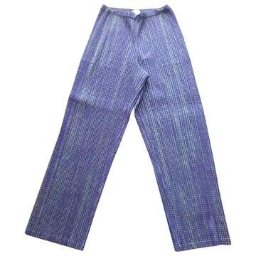 Issey Miyake Purple Cotton Trousers