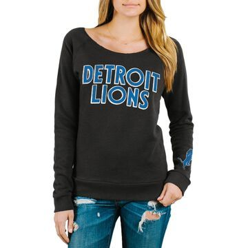 Detroit Lions Junk Food Women's Champion Fleece Sweatshirt - Black