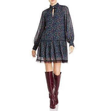 See by Chloe Floral Haze Lace Trim Dress