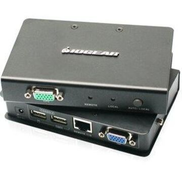 USB VGA KVM CONSOLE EXTENDER ACCESS YOUR COMPUTER UP TO 500FT
