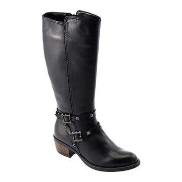 David Tate Women's Novita Knee High Boot Black Calfskin