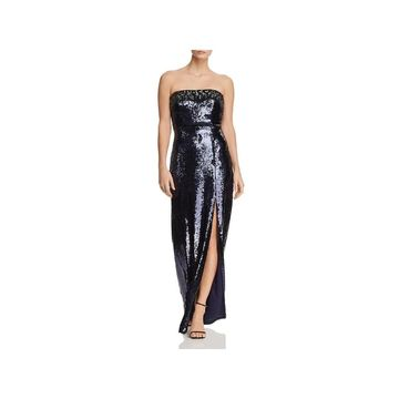Aidan Mattox Womens Evening Dress Formal Sequined
