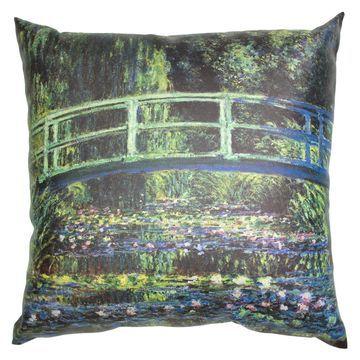 Oriental Furniture Monet Bridge at Giverny Pillow