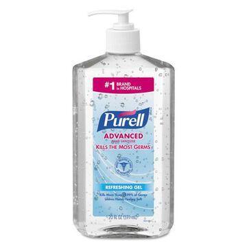 Advanced Instant Hand Sanitizer, 20 oz Pump Bottle, 12/Carton