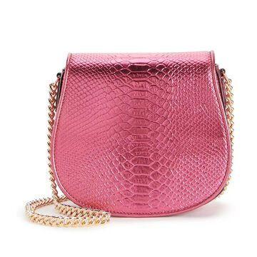 AmeriLeather Alaina Leather Crossbody Bag, Pink