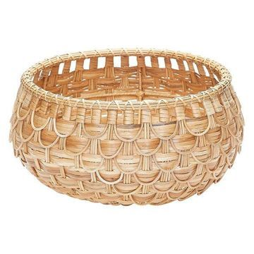 Lazy Susan Small Natural Fish Scale Basket