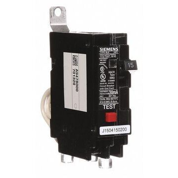 Miniature Circuit Breaker, 15 A, 120V AC, 1 Pole, Bolt On Mounting Style, BLE Series