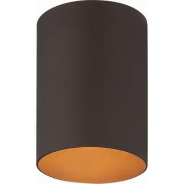 Volume Lighting 1-Light Flush Mount Cylinder Ceiling Fixture