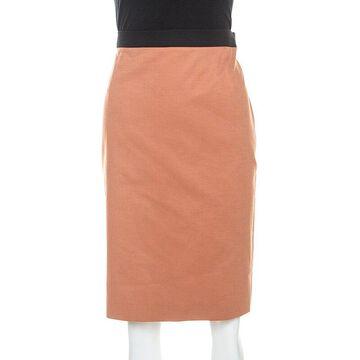 Jean Paul Gaultier Terracotta Brown Knee Length Skirt L
