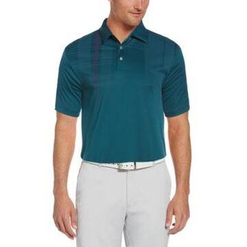 Pga Tour Men's Oversized Plaid Polo Shirt