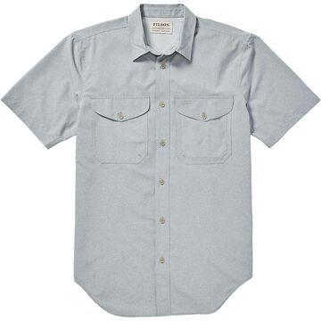 Filson Men's Twin Lakes SS Sport Shirt - Medium - Mint Grey