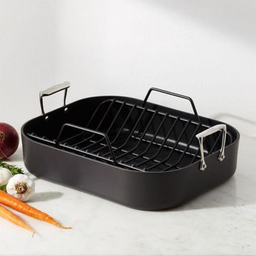 All-Clad A HA1 Hard Anodized Nonstick Roaster with Rack