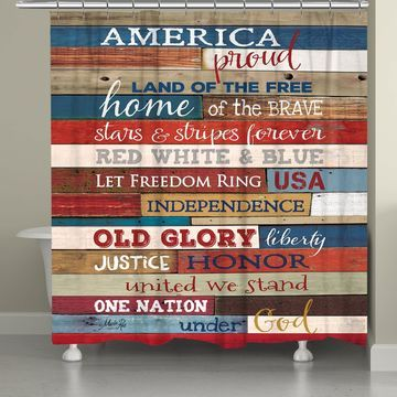 Laural Home Americana Shower Curtain