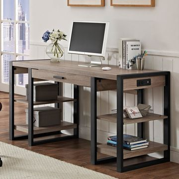 Walker Edison Urban Blend Storage Desk