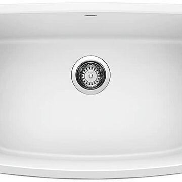 BLANCO Valea Undermount 27-in x 18-in White Single Bowl Kitchen Sink   442551