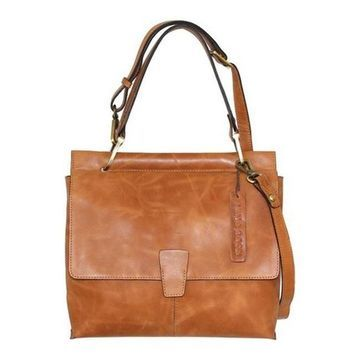 Nino Bossi Women's Jania Leather Shoulder Bag Tan - US Women's One Size (Size None)