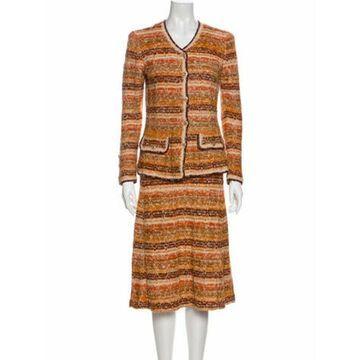 Patterned Skirt Set Orange