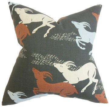 Naenia Animal Print Floor Pillow Red