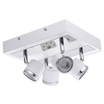 EGLO USA Pierino 4-Light LED Track Light in White/Chrome