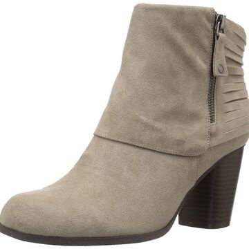 Madden Girl Womens destory Closed Toe Ankle Fashion, Taupe Fabric, Size 10.0