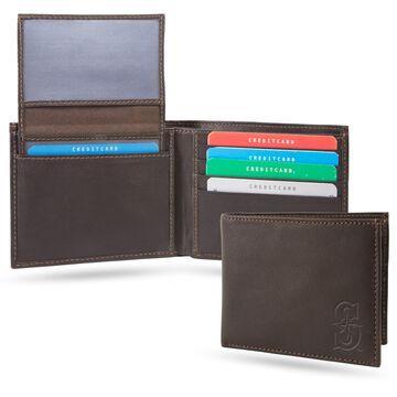Sparo Seattle Mariners Brown RFID Leather Shield Billfold Wallet