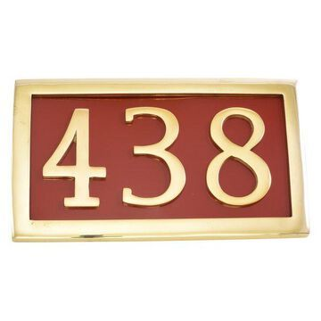 Address Plaque For Numerals, Brass, 3 Numbers