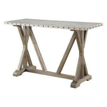 Coaster Rustic Console Table, Driftwood