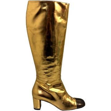 Bruno Magli Metallic Leather Boots