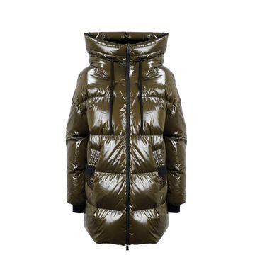 Laminated Mid Down Jacket Herno