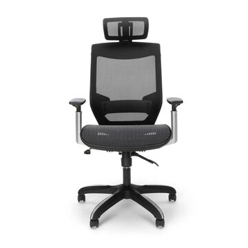 Full Mesh Office Chair with Headrest and Lumbar Support Black - OFM