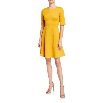 Jacquard Fit-&-Flare Dress