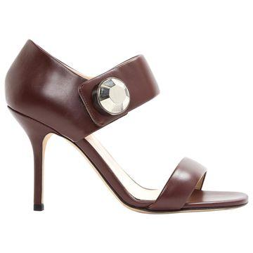 Christopher Kane Burgundy Leather Heels