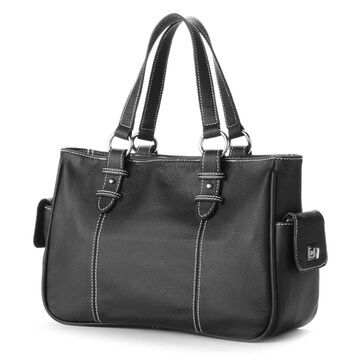 AmeriLeather Sophisticated Leather Shopper