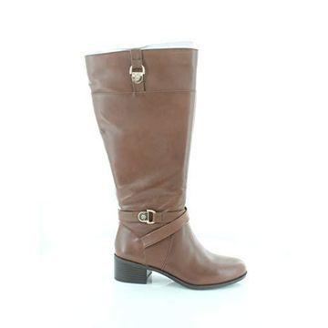 Giani Bernini Womens Revaa Leather Almond Toe Mid-Calf Fashion