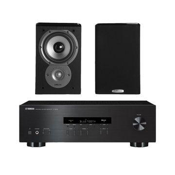 Yamaha R-S202 Stereo Receiver with Bluetooth and Polk TSi100 2-Way Bookshelf Speakers with 5-1/4