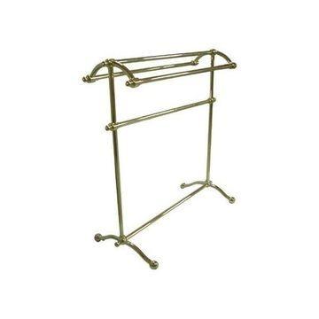 Kingston Brass Vintage Pedestal Brass Vintage Towel Rack, Polished Brass
