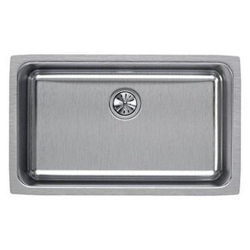 Elkay Lustertone ELUH281610 Single Bowl Undermount Stainless Steel Kit