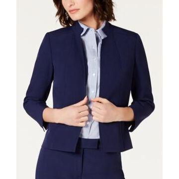Anne Klein Star-Collar Open-Front Blazer