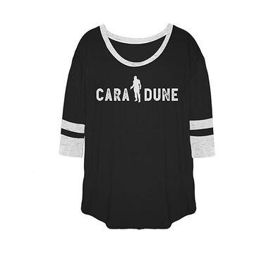 Fifth Sun Women's Tee Shirts BLK - Star Wars Black Cara Dune Shadow Varsity Tee - Women, Juniors & Plus