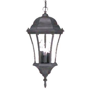 Acclaim Lighting Bryn Mawr Matte Black Traditional Beveled Glass Lantern Pendant Light