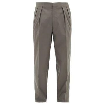 The Row - Mark Pleated Wool-twill Suit Trousers - Mens - Dark Grey