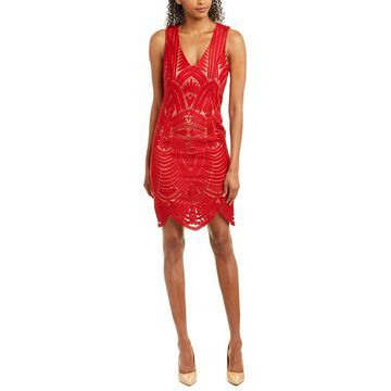 Bardot Womens Embroidered Sheath Dress